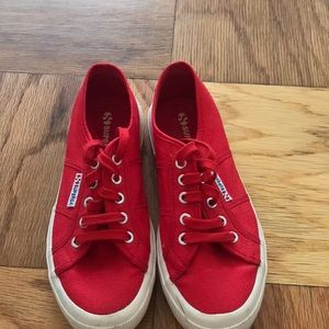 Superga red sneaker size 38